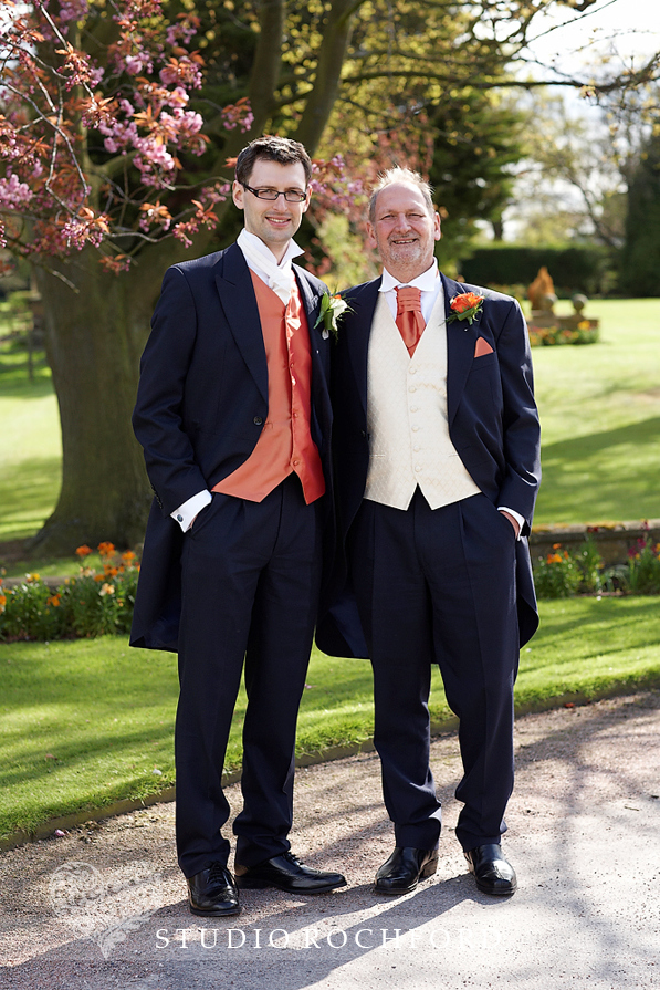 Groom & Best Man Burnt Orange