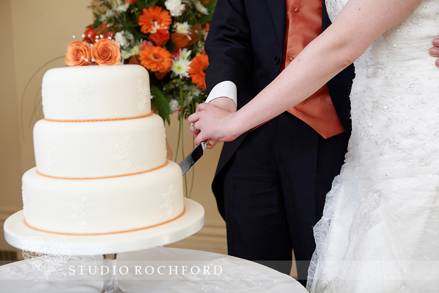 Wedding Cake Lace Icing Burnt Orange